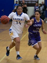 Reed's Autumn Wadsworth drives past Spanish Springs