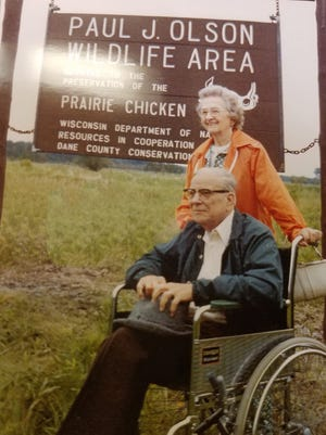 Paul and Alice Olson were on hand in the early 1980s when the DNR named central Wisconsin's 3,000-acre Paul J. Olson Wildlife Area after him.