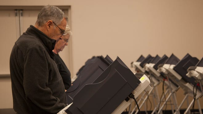 Residents of St. George vote at the Dixie Convention Center Tuesday, Nov. 3, 2015.