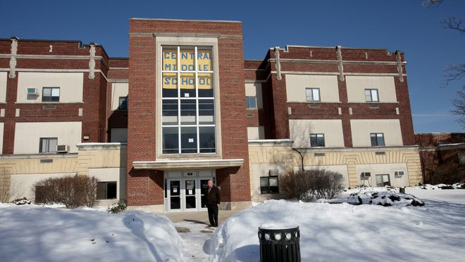 Central Middle School in Plymouth on February 11, 2014.