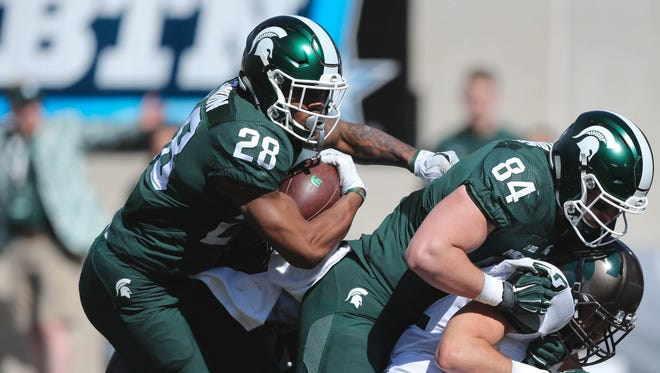 Michigan State running back Madre London ran for more yards in the 2017 spring game than he did in all of the 2016 season.