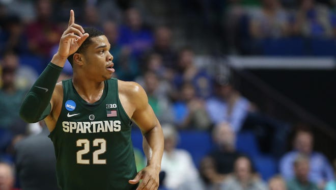 Miles Bridges of Michigan State was picked as the preseason national player of the year by ESPN.com.
