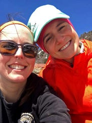 Monica Quesnell (left) and her friend Anna Nagel are