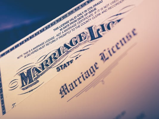 Marriage License Closeup