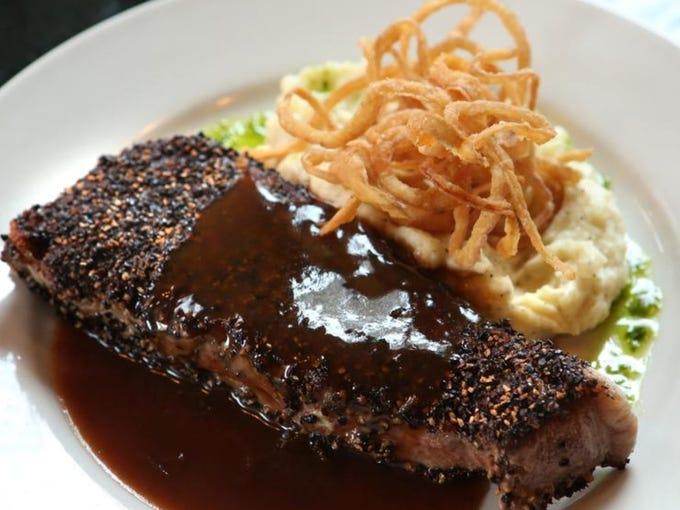 Steak Au Poivre at Bristol Bar & Grille