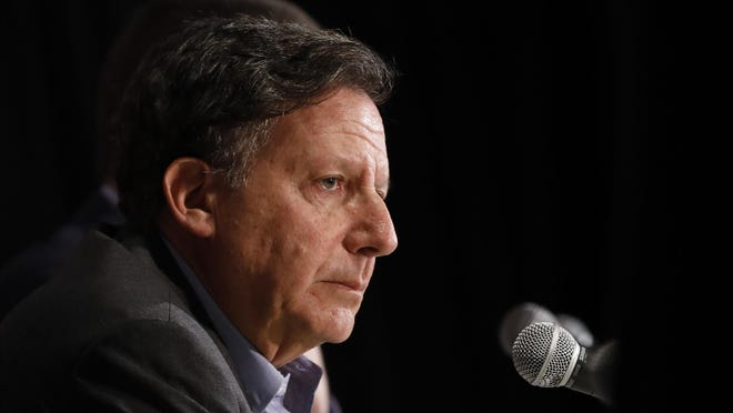 On a radio show Friday, Red Sox chairman Tom Werner, shown here during a press conference in January, shot back at critics of the decision to trade Mookie Betts to the Los Angeles Dodgers.