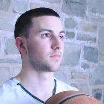 Boys Basketball Player of the Year Justin Etts of Spackenkill High School.