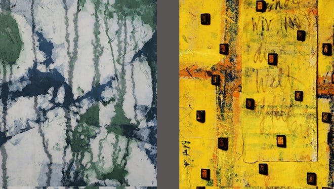 The work of Bibiana Huang Matheis, left to right, Helga Schuhr, Ilse Schreiber-Noll, and Silke Konschak is on view at the Howland Cultural Center through Dec. 3.