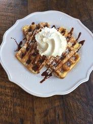 The buttermilk waffle with German chocolate hazelnut