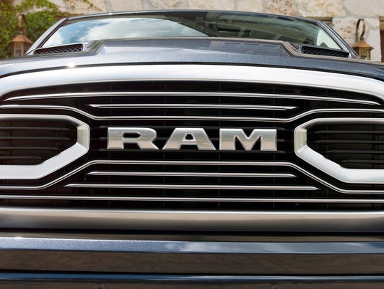 The grill on a 2018 Ram 1500 Limited Tungsten Edition