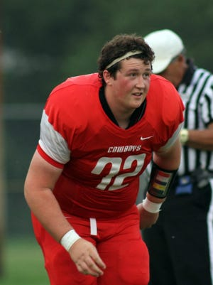 Conrad High senior Connor Peters recovered from a serious hip surgery to play a key role for the Cowboys' football team last fall.