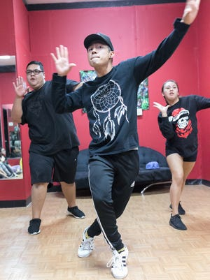 Noel Santos Jr., dance instructor performs at the Talent Box in Mangilao on March 23.