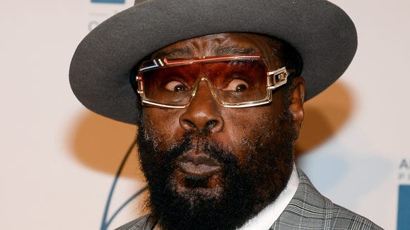 George Clinton of Parliament-Funkadelic arrives at