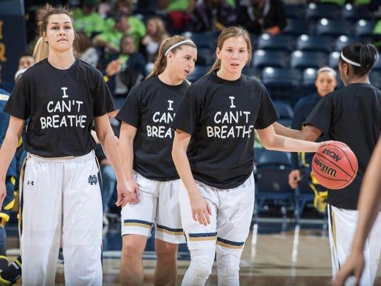 NCAA Womens Basketball: Michigan at Notre Dame