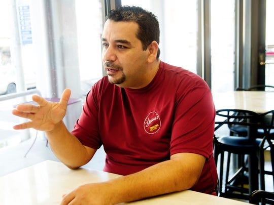 Yassin Terou, owner of Yassin's Falafel House, speaks
