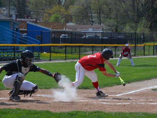 Lakeview catcher Jalen Watkins picks the ball off the