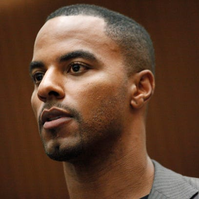 Former NFL safety Darren Sharper during an appearance in Los Angeles Superior Court in Los Angeles in February 2014.