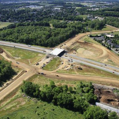 Cherry Valley Road interchange progress