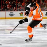 Sean Couturier re-injured himself Thursday night and will miss the next four weeks.