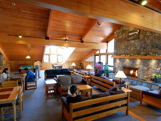 Normandy Farms Family Campground in Foxboro, Mass., near Boston, calls itself a luxury camping resort, offering a 20,000-square-foot recreation lodge with heated indoor pool, sauna and wellness center offering massages.