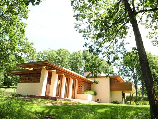 The Gordon House was designed by Frank Lloyd Wright.