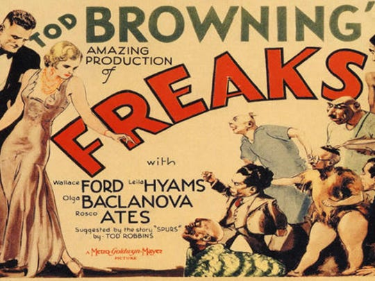 """Freaks"" starring: Wallace Ford, Leila Hyams, Olga Baclanova."