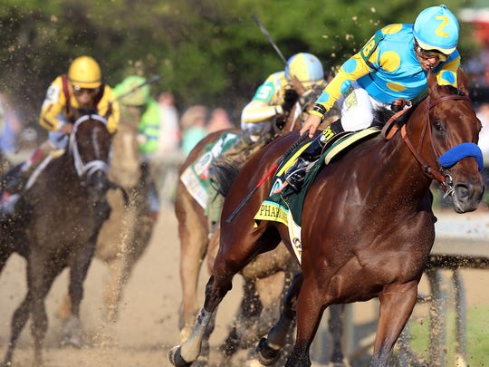 12. American Pharoah   • Won Triple Crown in:  2015   • Trainer:  Bob Baffert   • Jockey:  Victor Espinoza   The most recent horse to win the Triple Crown is American Pharoah, who won it in 2015. American Pharoah ended the 37-year drought for the Triple Crown -- the last to win it was Affirmed in 1978. His Triple Crown win racked up more than $8 million in prize money. The stallion didn't stop racing after the monumental win. He finished out the season in the fall of 2015 with another win at the Breeders' Cup Classic. By winning that race and the Triple Crown, American Pharoah won horse-racing's inaugural Grand Slam.   Like most horses with such accolades, American Pharoah's offspring sold for a hefty chunk of change. One of the steed's female foals sold for a whopping $1 million. One of his male foals sold for a little over half a million dollars, and another offspring sold for as much as $375,000.   ALSO READ: States Where Americans Are Paying the Most Taxes