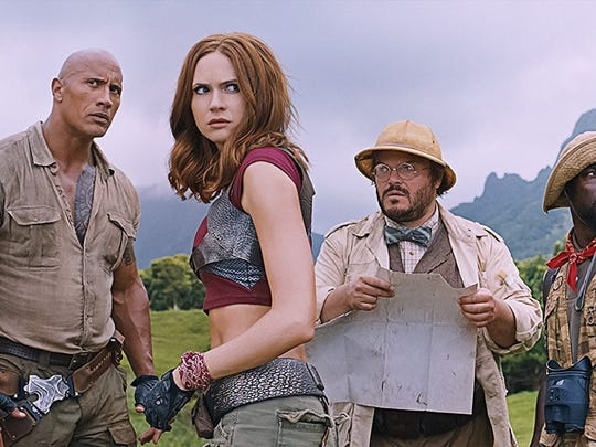 """Jumanji: Welcome to the Jungle,"" starring Dwayne Johnson, Jack Black and Kevin Hart, has made more than $800 million worldwide."