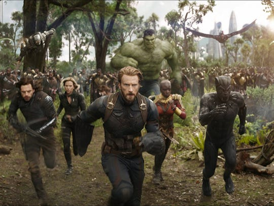 """A scene from """"Avengers: Infinity War.""""  A Comcast win for Fox assets would spell disappointment forMarvel fans who may have looked forward to an X-Men mash-up film with The Avengers (Foxowns the rights to X-Men, Deadpool, and the Fantastic Four.)"""