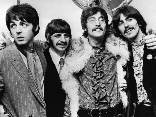 """The Beatles in the """"Sgt. Pepper"""" era: From left, Paul McCartney, Ringo Starr, John Lennon and George Harrison."""