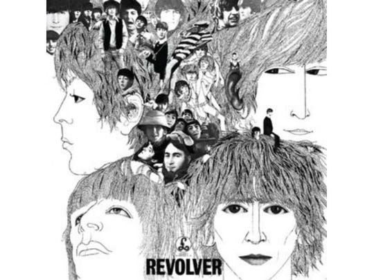"Klaus Voormann's Grammy-winning design for ""Revolver."""