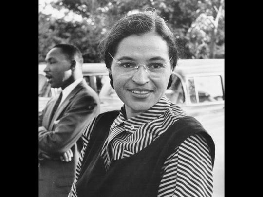 File photo of Rosa Parks.