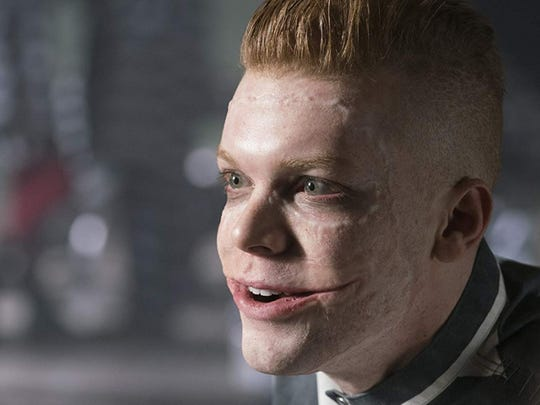Cameron Monaghan plays Jerome Valeska, a caricatured version of The Joker, in the television show Gotham.
