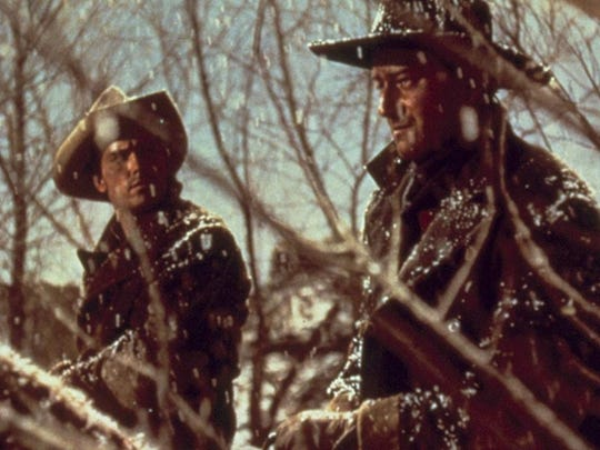 "6. The Searchers (1956)     • Directed by:  John Ford     • Starring:  John Wayne, Jeffrey Hunter, Vera Miles     ""The Searchers"" was shot in Technicolor and stars John Wayne in one his most iconic roles as Ethan Edwards. He's a Civil War veteran in search of his niece (Natalie Wood), who has been kidnapped by Native Americans. Wayne loved the role so much he later named his son Ethan."