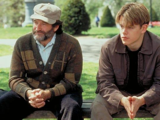 "Robin Williams counseled Matt Damon in 1997's ""Good Will Hunting."""