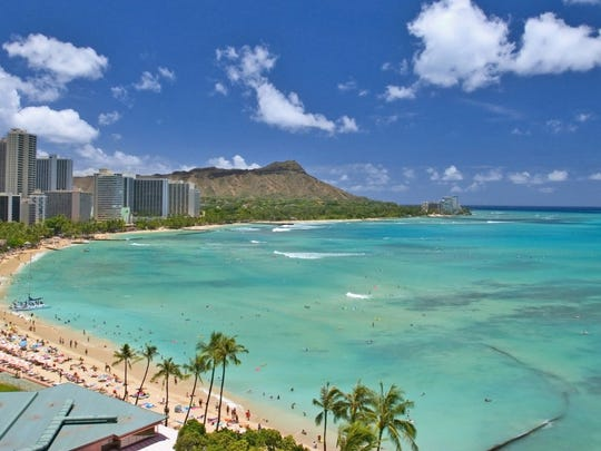 Hawaii ranked No. 1 for happy states.