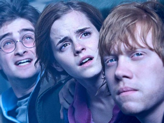 Harry Potter stars Daniel Radcliffe, Emma Watson and Rupert Grint in a scene from the film. Glint was recently spotted dining in Westchester.
