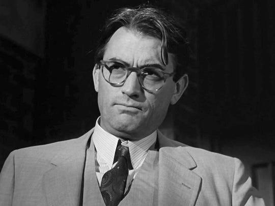 "Atticus Finch from Harper Lee's 1960 novel ""To Kill A Mockingbird."""