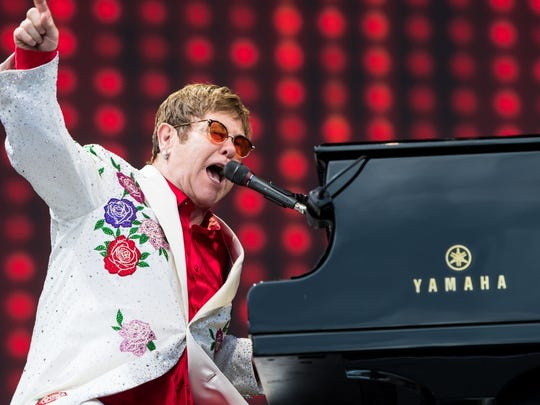 "Elton John plays FedExForum in October as part of his ""Farewell Yellow Brick Road Tour."""