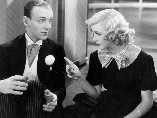 """Ginger Rogers stars with Fred Astaire in 1936's """"Swing Time."""""""