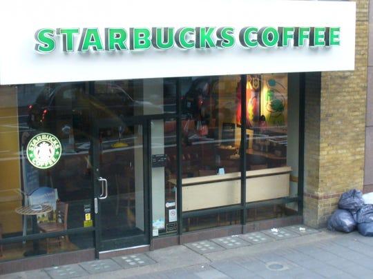 A Starbucks storefront.