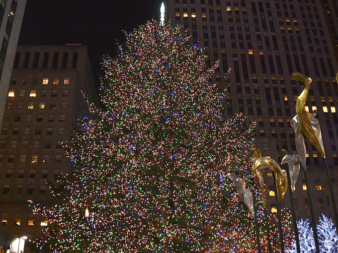 The lighting of the Christmas tree is one of the most