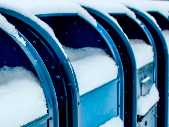 The United States Postal Service canceled mail delivery due to extremely cold temperatures across the Midwest.