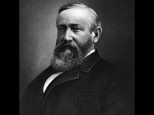 Benjamin Harrison     • Term:  1889-1893) (23rd president)     • Peak net worth (in current dollars):  $6.1 million     Harrison had no significant inheritance of his own or from his wife's family. He was a highly-paid attorney for 18 years, and served as attorney for the Republic of Venezuela in a border dispute. Harrison owned large Victorian home in Indianapolis, Indiana.