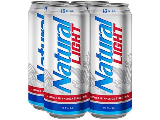 8. Natural Light  Parent company:  Anheuser-Busch InBev