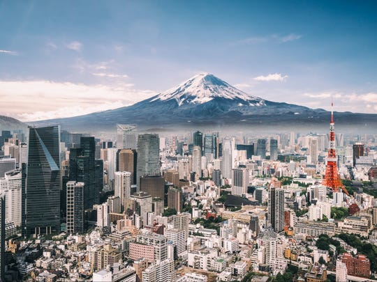Tokyo has nearly the population of California crammed into a space smaller than the size of Connecticut.