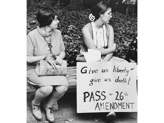 Equal Rights Amendment gathering from the 1970s