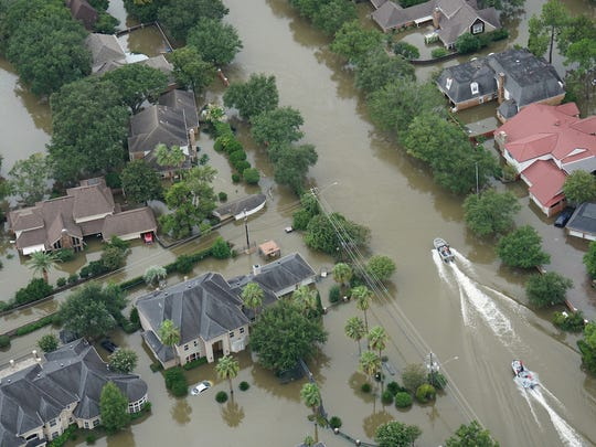 Hurricane Harvey caused widespread devastation in the greater Houston area. The flooding in the region displaced 30,000 people and damaged or destroyed more than 200,000 homes and businesses.