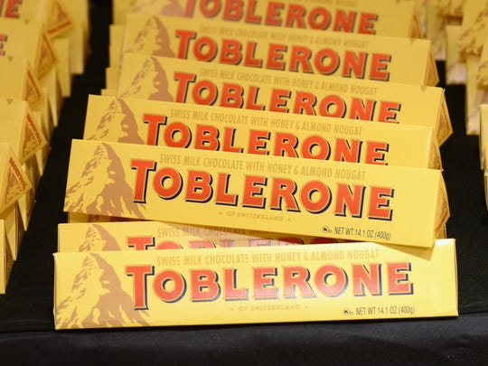 The popular chocolate bar's triangle shapes were inspired by the shape of Switzerland's Matterhorn mountain peak on the packaging.