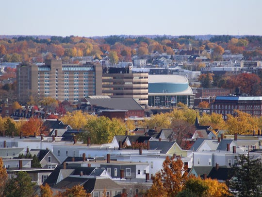 A city view of Manchester, New Hampshire. Residents of the state pay one of the highest property tax rates in the country.